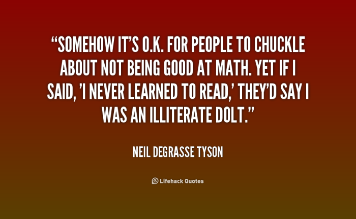 Neil deGrasse Tyson on Math